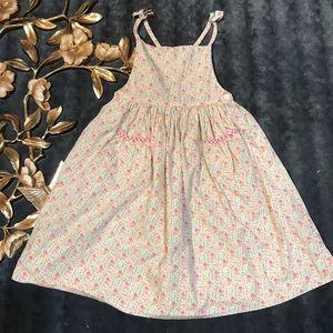 Ralph Lauren Girls Floral Apron Dress Size 6